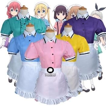 Mischung S Maika Sakuranomiya Kaho Hinata Mafuyu Hoshikawa Miu Amano Hideri Kanzaki Maid Kleid Uniform Frauen Mädchen Cosplay Kostüm