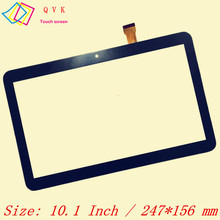 Black touch screen 10.1 Inch P/N ZY-1008 Capacitive touch screen panel repair replacement parts free shipping