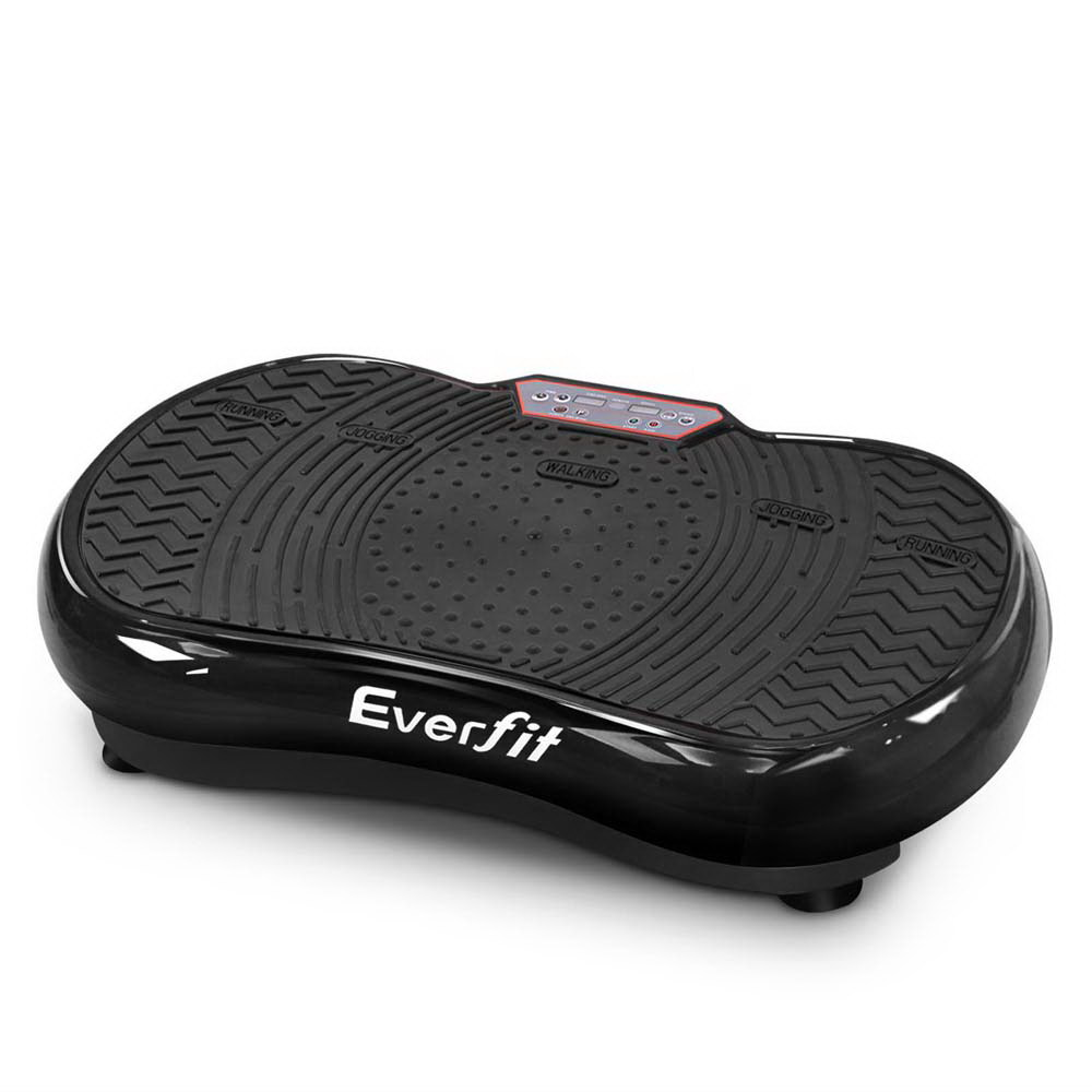 Everfit Vibration Machine Plate Platform Body Shaper Home Gym Fitness Black White Red 99 Speed Levels Durable Exercise Machine