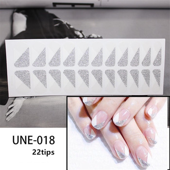 10/20pcs Mixed Designs Full Cover Nail Art Stickers Christmas French Glitter Self-adhesive Decals Slider Wraps Decor Manicure 3