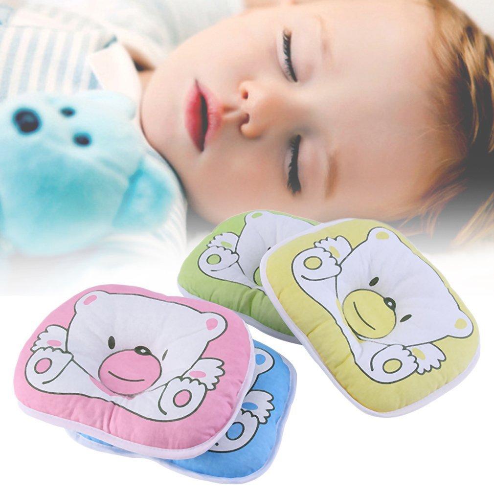 Подушка для защиты головы, подушка для новорожденных, детские подушки с медведем, хлопковая детская подушка с принтом животных, позиционер ...