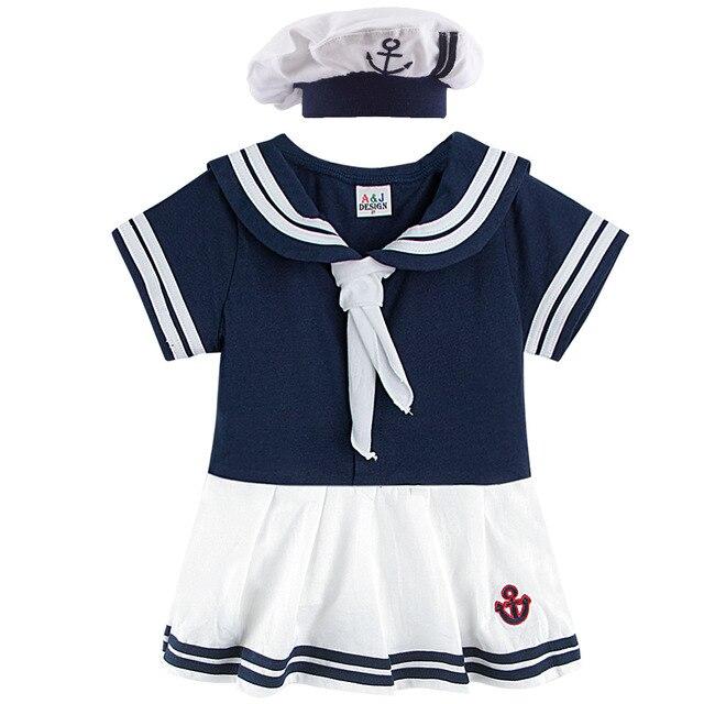 Disfraz de marinero para niñas. Traje infantil de Halloween de la Marina. Disfraz de fantasía para niños. Traje de Cosplay náutico. Uniforme de ancla