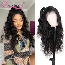 Парик с объемной волной 13X4, парики из человеческих волос на сетке спереди, натуральный цвет, бразильские волнистые волосы без повреждений, п...