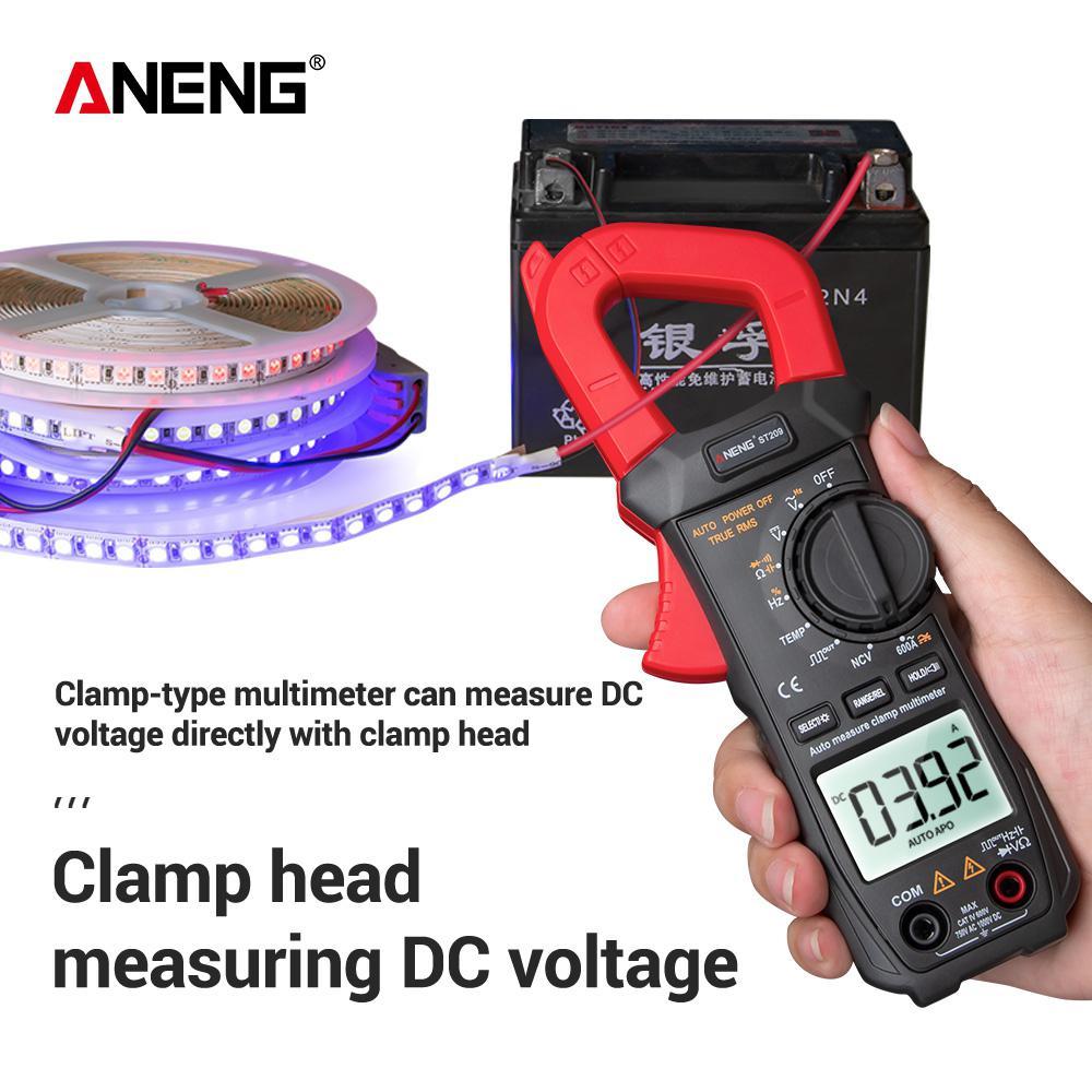 ANENG ST209 Digital Clamp Meter Multimeter 6000counts True RMS Mini Amp DC/AC Clamp Meters Voltmeter 400v Automatic Range