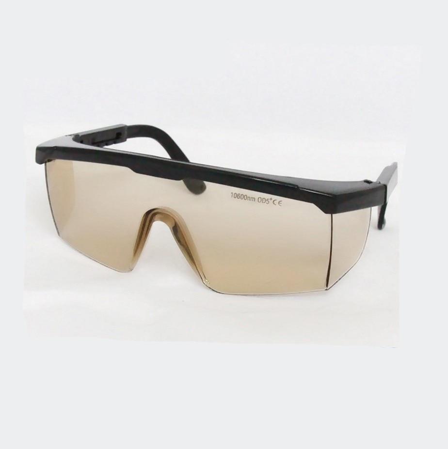 Kacamata Keselamatan Laser Co2 untuk Laser Co2 10600nm, CE O.D 4+ VLT> 95%