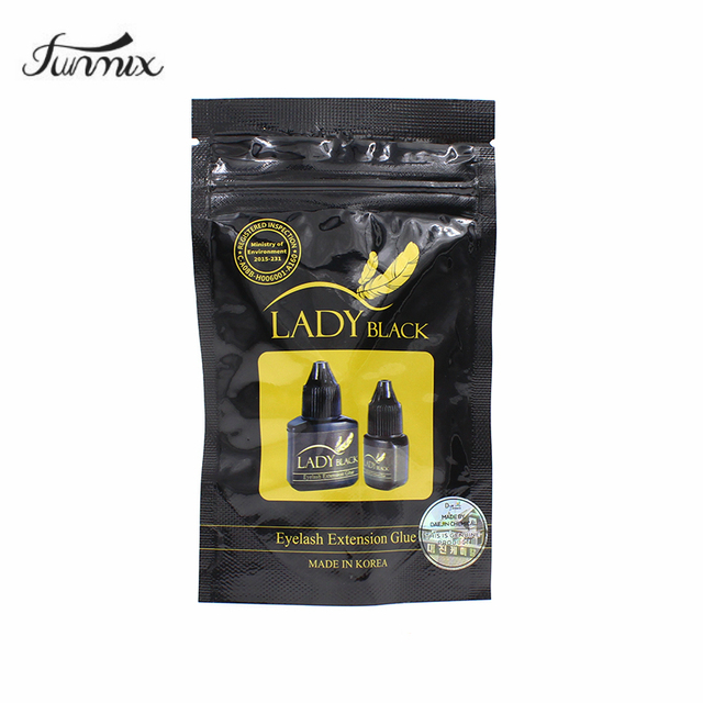 1 Bottle 5ml Lady Black Eyelash Extension Glue Fast Drying False Eyelash Extension Glue Over 6 Weeks With security label