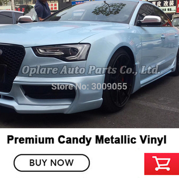 Highest quality candy metallic wrapping film vinyl wrap film  low initial tack adhesive  blue pearl wrap  vinyl film