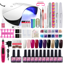Gel Polish Nail Art Manicure Tools Kit UV LED Nail Lamp Dryer Colors Gel Nail polish DIY Tools Nail Set Kit Gel Varnish Set gel polish nail art tools kits 36w uv led nail dryer lamps uv gel polish polish gel manicure machine set nail file remover tools