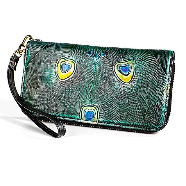 Women's RFID Retro Genuine Leather Clutch Wallet