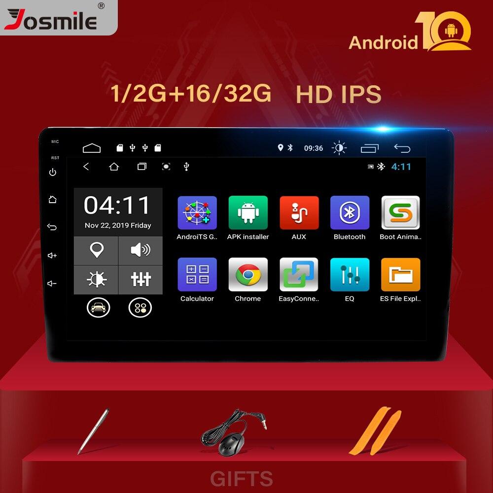 10 .1 дюймовый 4-ядерный 1Din Android 10,0 автомобильный радиоприемник, мультимедийный плеер, универсальный автомобильный стерео GPS-навигатор, Bluetooth а...