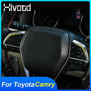 For Toyota Camry 2020 2019 Accessories Steering Wheel Button Cover Stainless Steel Trim Docoration Interior Parts Car Stylig
