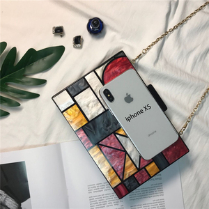 Image 5 - 2020 New brand acrylic patchwork Evening bags Handbags  Vintage Women messenger bags Geometric Pattern Clutches Party Prom purse