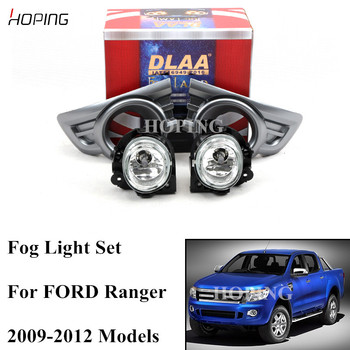 Hoping 1 set Front Bumper  Fog Light  Driving Lamp Kit Set   For Ford Ranger 2009 2010 2011 2012 Wiring Switch with Halogen Bulb
