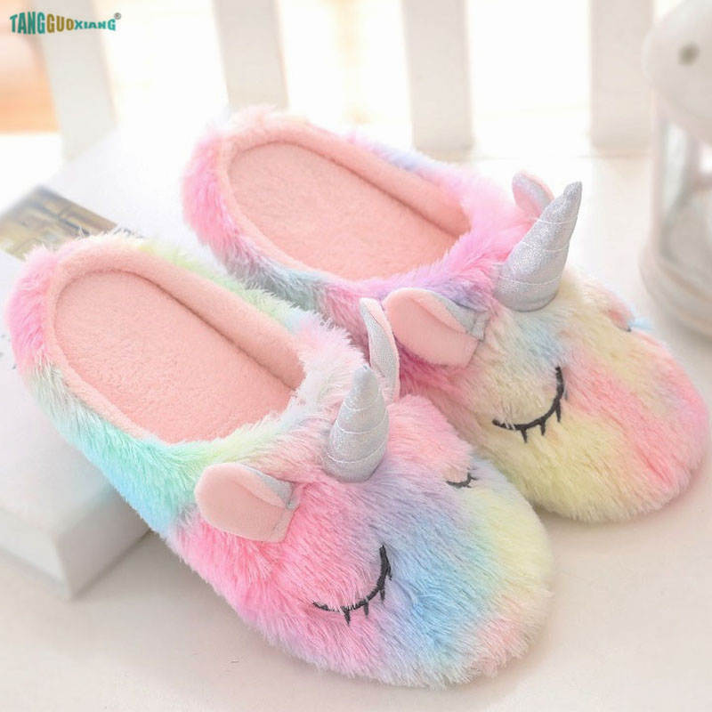 Colorful Rainbow Unicorn Plush Hedgehog Dog Girl Winter Cute Animals Ladies Plush Toy Cotton Rainbocorns