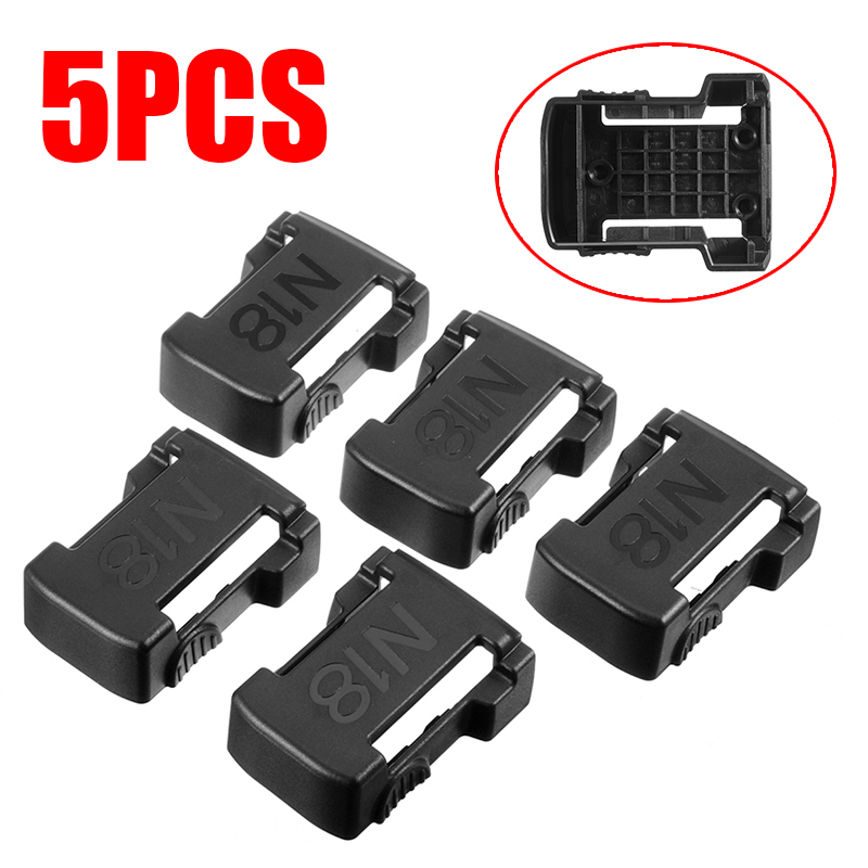 5pcs/set Black 18V Battery Mounts Storage Shelf Rack Stand Holder Slots Battery Stand Holder Slots For MILWAUKEE M18