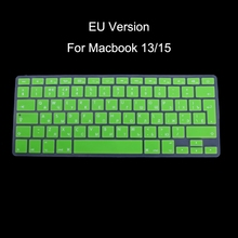 EU Version Russian Keyboard Silicone Skin Cover For Apple Macbook Air Pro 13 Inch 15 Inch