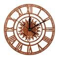 Тихие антикварные деревянные настенные часы 2019  3D Роскошные Ретро художественные деревянные винтажные большие настенные часы на стену для ...