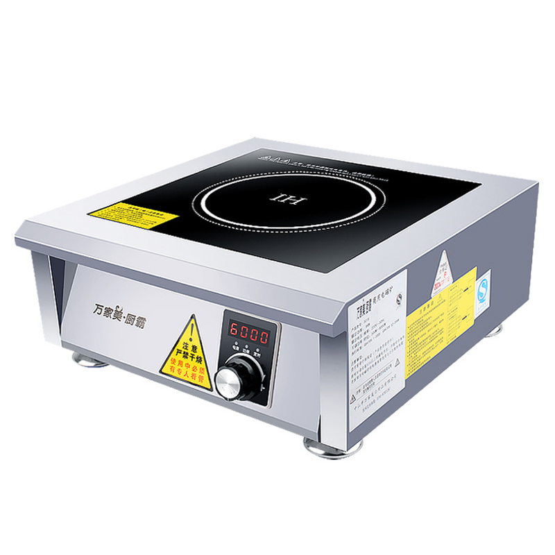 6000W Commercial Induction Cooker Stainless Steel Plane Electric Stove Canteen Hotel Industrial Induction Cooking Machine