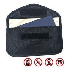 Signaal Blokkeren Bag Auto Fob Signaal Blocker Faraday Tas Signaal Blokkeren Bag Afscherming Pouch Wallet Case Voor Idcard/Auto sleutel