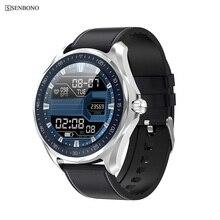 SENBONO S09 ساعة ذكية IP68 مقاوم للماء الرجال مراقب معدل ضربات القلب ضغط الدم جهاز تعقب للياقة البدنية لتحديد المواقع خريطة Smartwatch ل أندرويد iOS