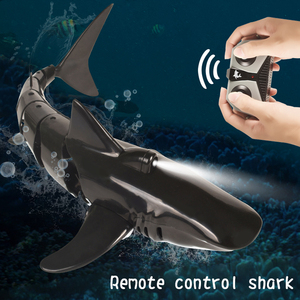 Kids Remote Control Shark 2.4G Electric Stimulation RC Fish 20 Minutes Rechargeable Battery Water Swimming Pool Toys Xmas Gift