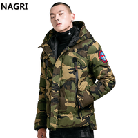 Men Winter Thick Warm Parka Camouflage Hooded Jacket and Coat Male Military Tactical Waterproof Zipper Pockets Overcoat Jackets