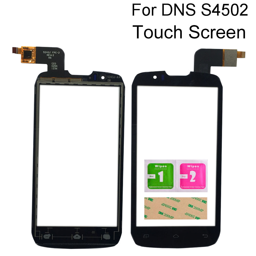 4.3'' Touch Screen Lens Sensor For <font><b>DNS</b></font> <font><b>S4502</b></font> S4502M Digitizer Panel Sensor Tools 3M Glue Wipes Touch image