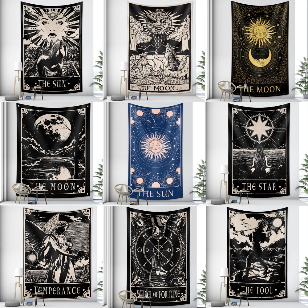 Tarot brand new product Indian mandala tapestry witchcraft tapestry bohemian style decoration home decoration hippie mattress