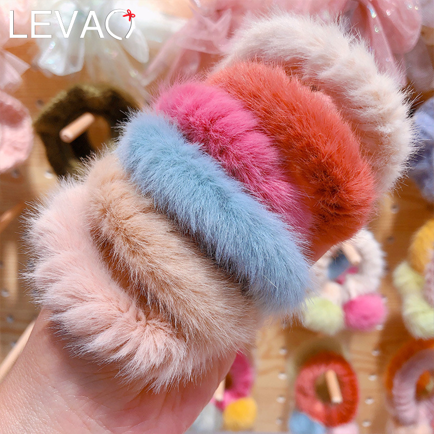Levao 1 Pcs Elastic Cute Hair Bands Rope For Women Girls Kid Hairy Hair Rope Scrunchies Ponytail Holder Hair Accessories