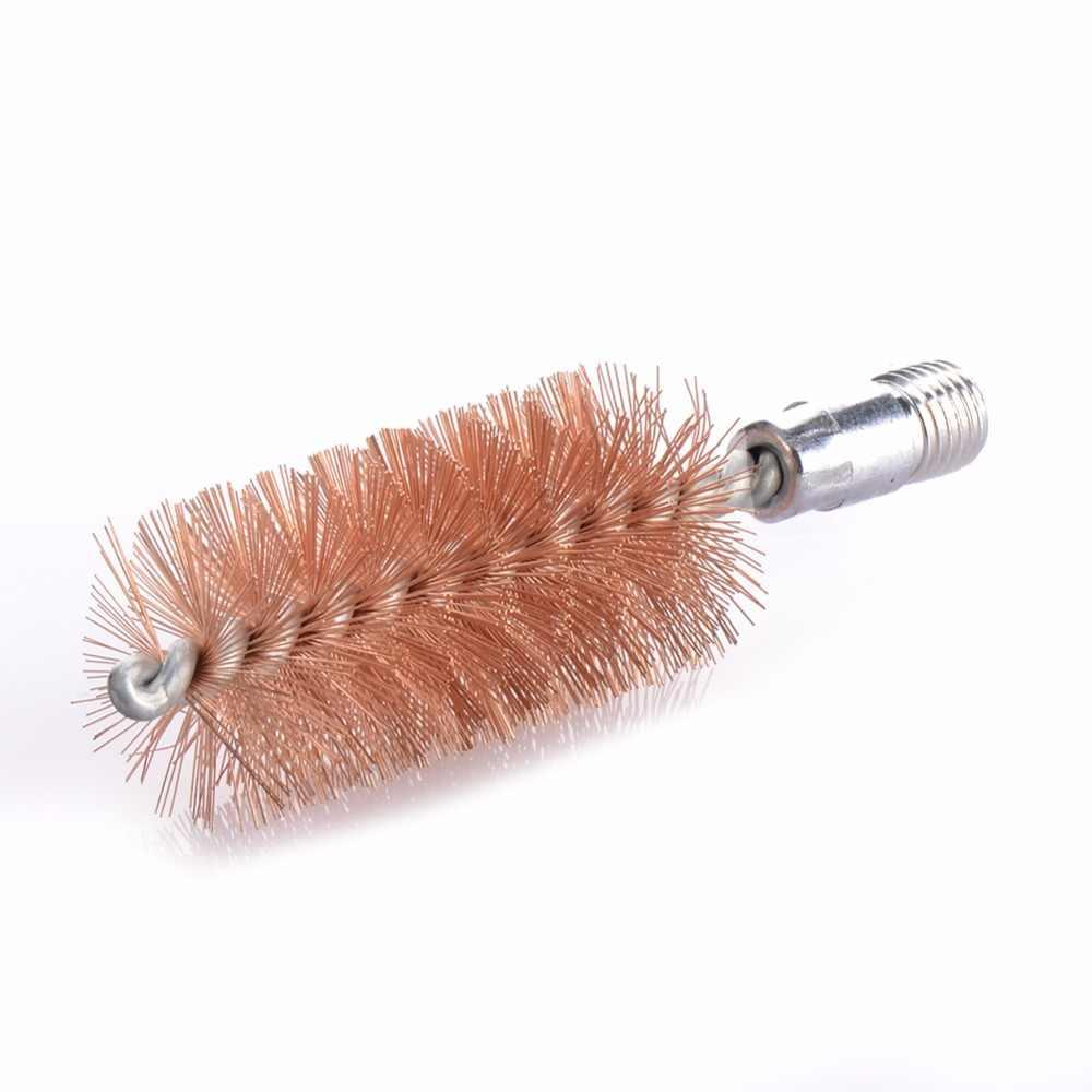 חם 12GA/20GA ציד מברשת נחושת ניקוי ציד ניקוי אבזר מברשת מוט פליז Extention מוט