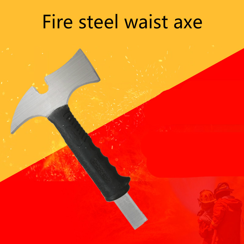 Fire Fighting Waist Axe Breaking Rescue Axe Fire Fighting Equipment Small Axe Camping Multi-purpose Hand Axe Carbon Steel Pointe
