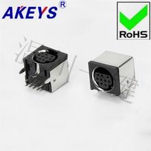 цена на 5 PCS MDC-9-05a square keyboard plug DIN socket S terminal half packet 9-pin nine-core socket mother head