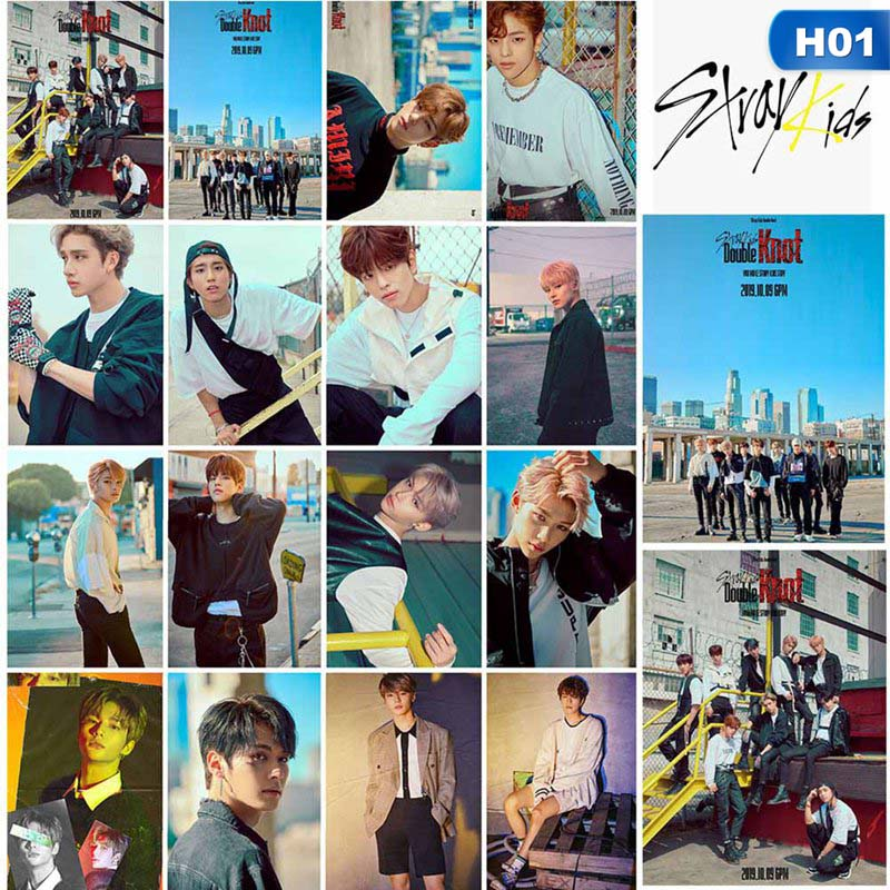 16Pcs/Set Stray Kids Photo Card Double Knot Album Lomo Card Photocard Fans Collection Gifts