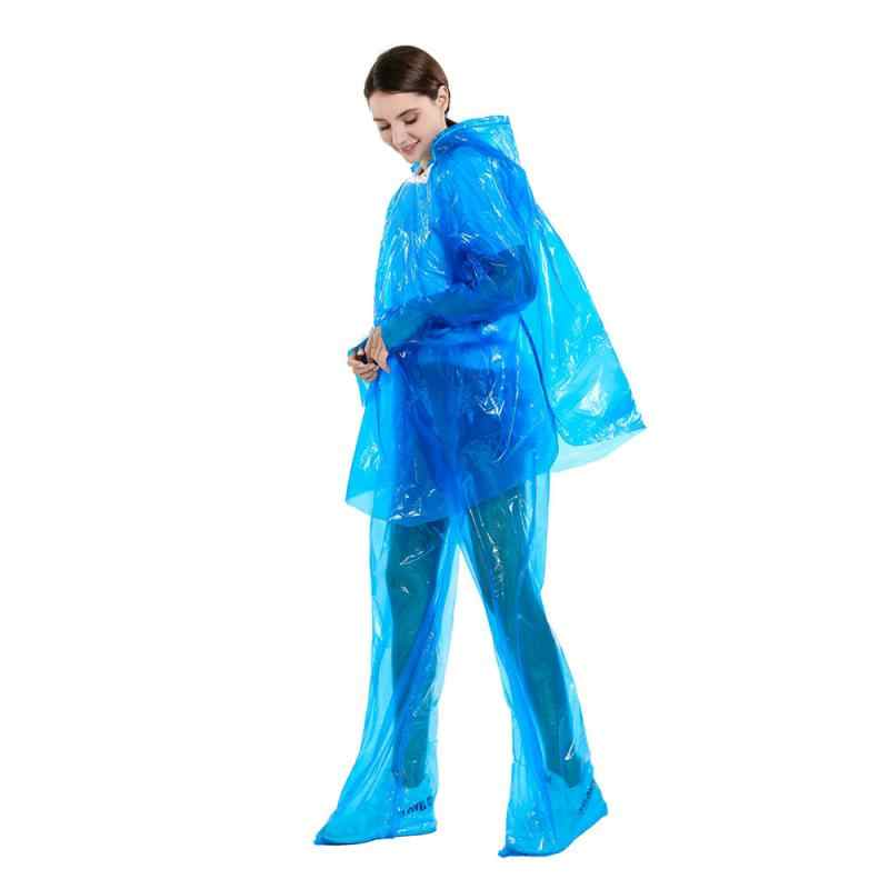 Split Regenjas Regenbroek Pak Stofdicht Waterdicht Anti-Vuile Kwaliteit Wegwerp Beschermende Regenjas (Willekeurige Kleur)