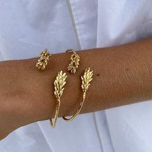 Bracelets en or pour femmes, nouveau Design, nouveauté, bijoux tendance, taille ouverte, stéréoscopique, manchette, 2021