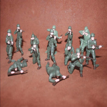 10pcs/lot Green Soldier Model Action Figure Toys 6CM Miniature Accessories Boys PVC Toy Birthday Gift For Son
