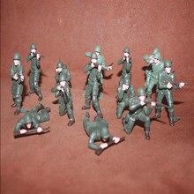 10 pçs/lote soldado verde modelo figura de ação brinquedos 6cm miniatura acessórios meninos pvc brinquedo presente aniversário para o filho