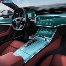 Car Interior Central Navigation Screen Dashboard Gear TPU Sticker Protective Film For Audi A7 S7 C8 4K 2019 2020 Accessories