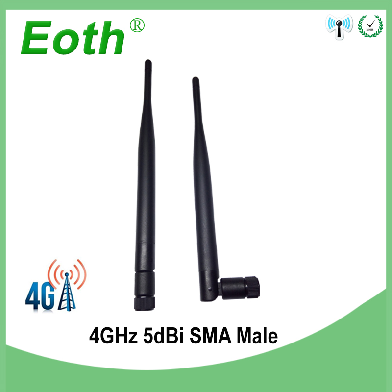 2pcs 4G LTE Antenna 5DBI SMA Male Connector Antena External Antenne 4g 698~960MHz /1710~2690MHz For Huawei Router Modem Repeater