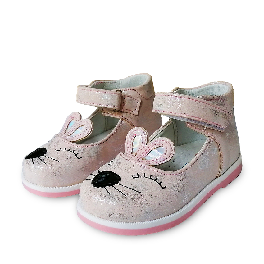 Cute 1pair Leather Shoes Arch Support Orthopedic Children Kids Fashion Shoes, New Girl Single Shoes