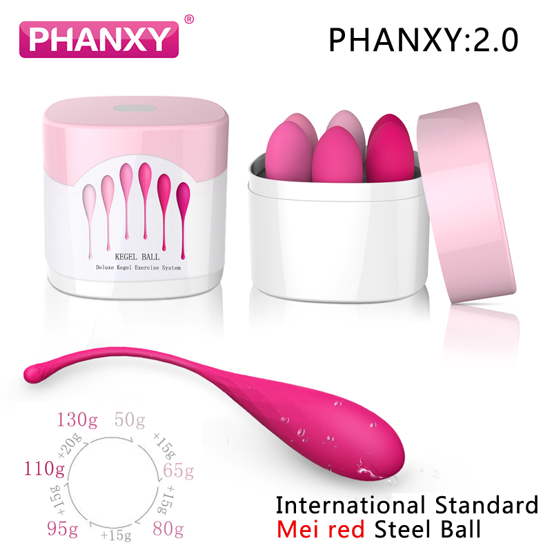 PHANXY 6Pcs Kegel Balls Vaginal Chinese Balls For Women Sex Toys For Woman Shrinking Vagina Geisha Ball Tighten Exercise Machine