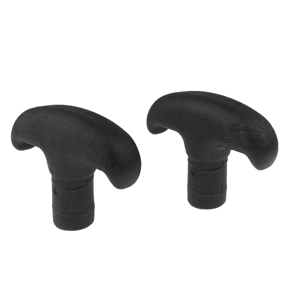 2x PVC Canoe Kayak Boat Dinghy Paddle T Handle Grip Replacement Suits 20mm Shaft