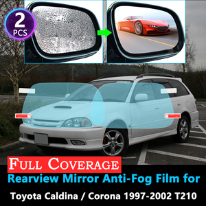 Full Cover Protective Anti Fog Film for Toyota Caldina Corona T210 1997~2002 Car Rearview Mirror Rainproof 1998 1999 2000 2001(China)
