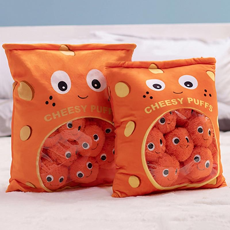 48 38 cm um saco de 8 pces lanche puddiing macio pelucia brinquedo puff pelucia travesseiro