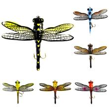 75MM Insect ABS Fly Fishing Lure Life-like Dragonfly Floating Flies Hairy Hook Bait