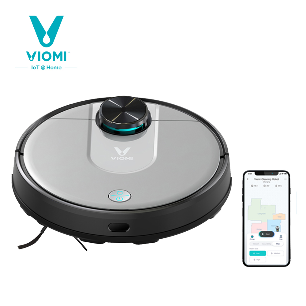 Original VIOMI V2 PRO Vacuum Cleaner 2100pa Strong Suction Sweeping Robot Automatic Charging LDS Laser Navigation Scanning