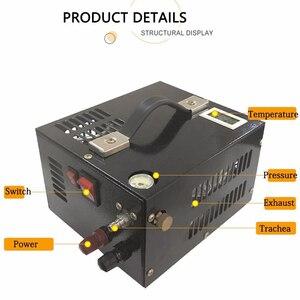 Image 3 - 12V 4500psi 300bar 30mpa PCP אוויר רכב מדחס מיני PCP משאבת עם 220V שנאי גבוהה לחץ Inflator רכב ציד