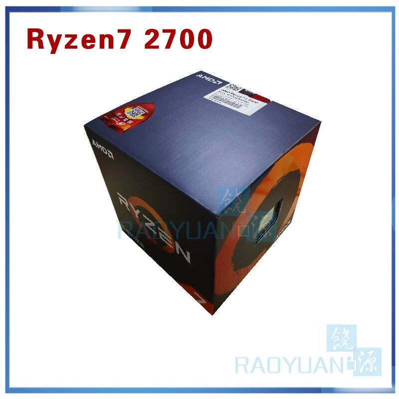 New AMD Ryzen 7 2700 R7 2700 3.2 GHz Eight-Core Sinteen-Thread 16M 65W CPU With Cooler Cooling Fan