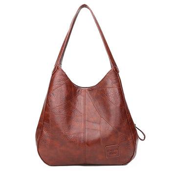 Torebki damskie Vintage torebki damskie luksusowe torebki damskie torebki na ramię Top damski torby z uchwytami torebki marki Fashion tanie i dobre opinie Hobos CN (pochodzenie) SOFT Otwarta kieszeń Na co dzień guzik POLIESTER Versatile WOMEN klamerka