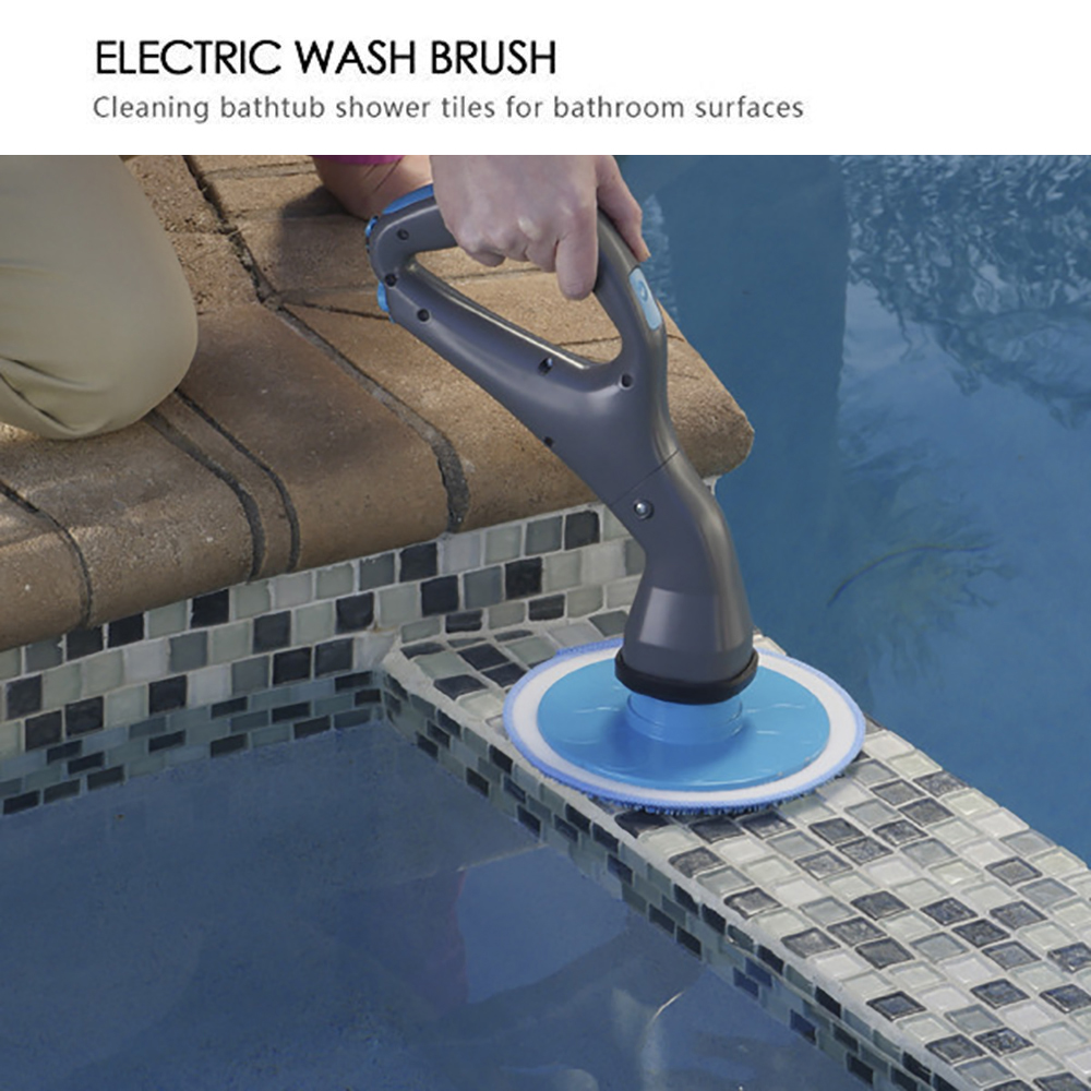 Power Scrubber Brush Swimming Pool Strong Rechargeable Drill Scrubber Brush Cleaning Cordless Scrubber Swimming Pool Accessories